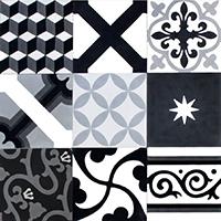 Patchwork N, B et  gris