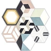 Patchwork hexa motieven